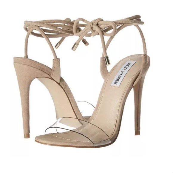 b455fb12bd2 Steve Madden Nude Lace Up Heels Lyla $129 NEW NWT